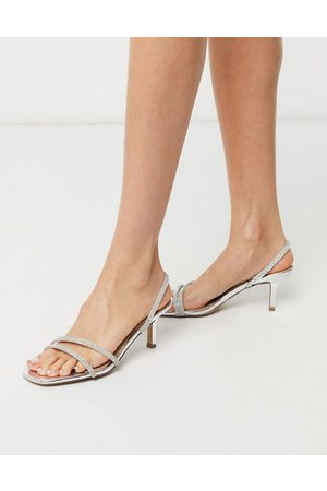 Steve Madden Loft-r strappy heeled sandal in rhinestone-Multi