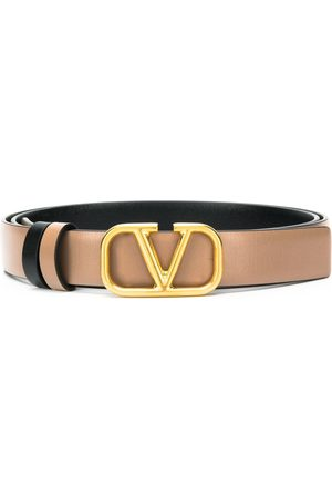 VALENTINO GARAVANI Logo plaque belt - Neutrals