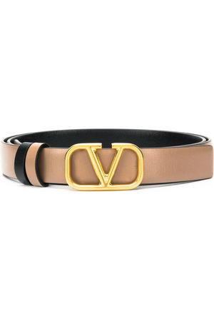 VALENTINO GARAVANI Women Belts - Logo plaque belt - Neutrals