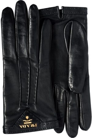 Prada Logo-plaque lined gloves