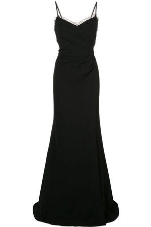 Marchesa Notte Side slit dress