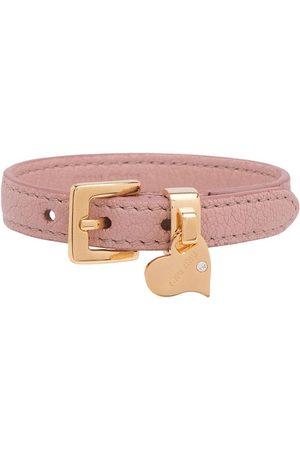 Miu Miu Women Bracelets - Madras leather bracelet