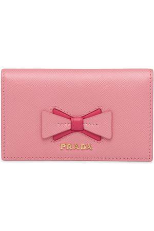 Prada Women Wallets - Bow-detail folding wallet