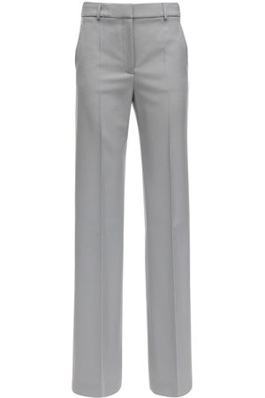 Stella McCartney Wool Gabardine Straight Leg Pants