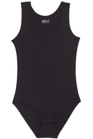 About Women Lingerie Bodies - V-neck Modal-blend Bodysuit - Womens