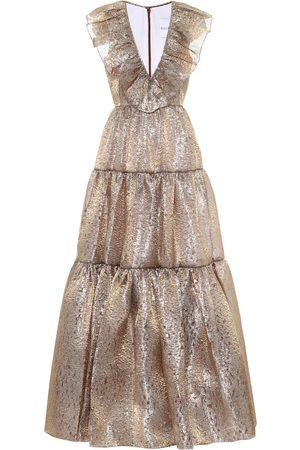 HALPERN Organza-lamé gown