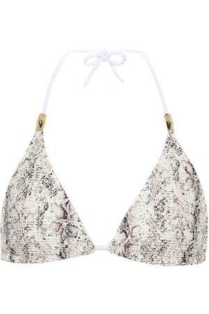 Heidi Klein Zambia snake-effect bikini top