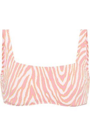 Heidi Klein Cape Town zebra-print bikini top
