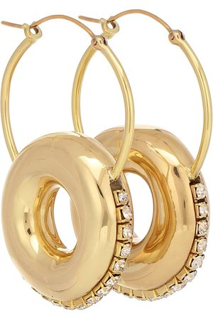Ellery Infinity embellished hoop earrings
