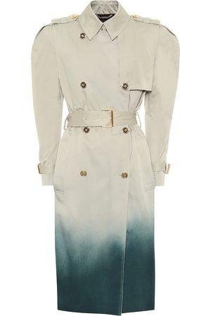 VERSACE Ombré cotton trench coat