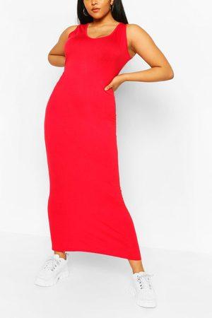 Boohoo Womens Plus Scoop Neck Jersey Maxi Dress - - 12