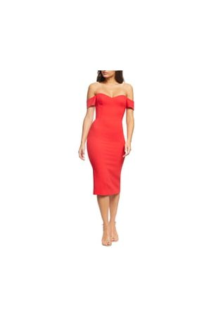Dress The Population Women's Bailey Off The Shoulder Body-Con Dress