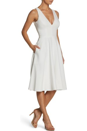 Dress The Population Women's Catalina Fit & Flare Cocktail Dress