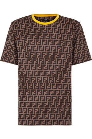 Fendi Men's Ff Logo Print Cotton T-Shirt