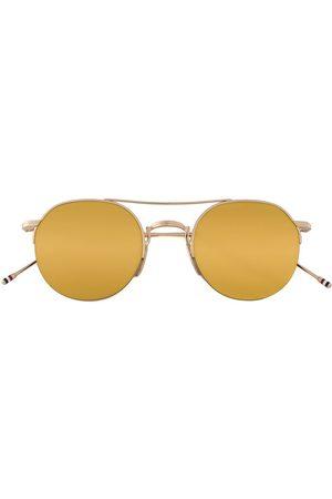 Thom Browne Eyewear & Brown Aviator Sunglasses - Metallic