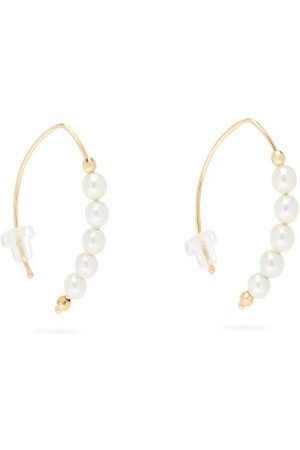 Mizuki Women Earrings - Freshwater Pearl & 14kt Gold Small Earrings - Womens - Pearl