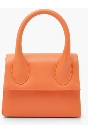 Boohoo Womens Structured Handle Detail Grab Bag With Strap - - One Size