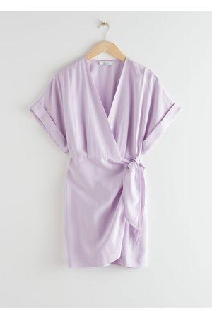 & OTHER STORIES Kimono Wrap Mini Dress