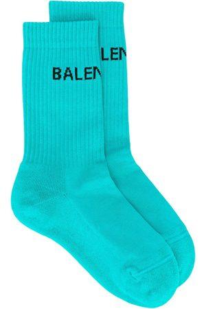 Balenciaga Women Socks - Logo print socks