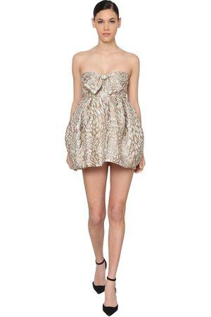 ALEXANDRE VAUTHIER Leopard Jacquard Mini Dress