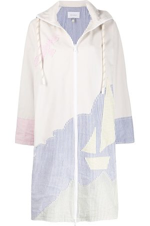 MIRA MIKATI Sailing Boat hooded coat - Neutrals