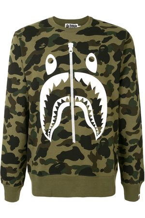 A BATHING APE® Men Sweatshirts - Camouflage print sweatshirt