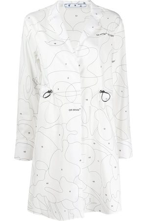 OFF-WHITE Women Casual Dresses - Puzzle print shirtdress