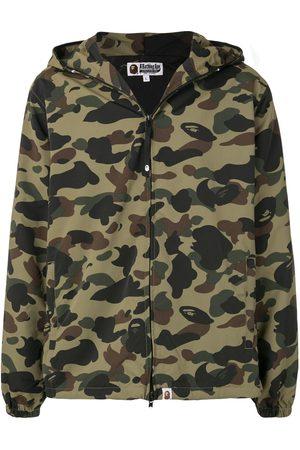 A BATHING APE® Men Jackets - Camouflage print hooded jacket