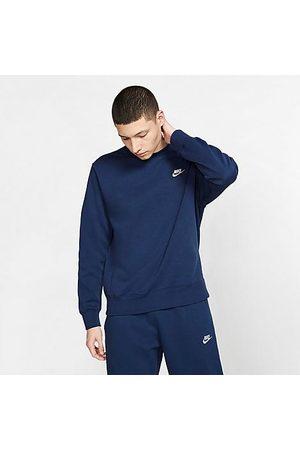 Nike Sportswear Club Fleece Crewneck Sweatshirt in /Midnight Navy Size 2X-Large Cotton/Polyester/Fleece