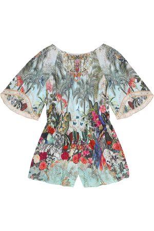 Camilla Printed cotton playsuit
