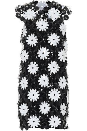 Paco rabanne Flower PVC minidress