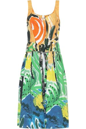 Marni Women Printed Dresses - Printed cotton midi dress