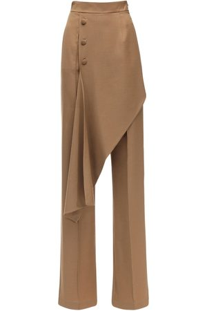 MATÉRIEL by Aleksandre Akhalkatsishvili Asymmetrical Layered Cool Wool Pants