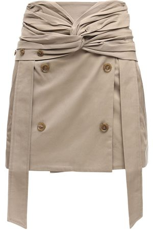 Rokh Cotton Gabardine Mini Skirt