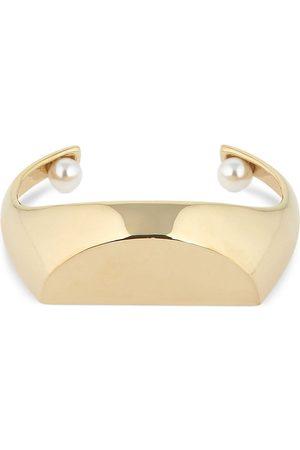 Maison Margiela Open Cuff Bracelet W/ Imitation Pearls