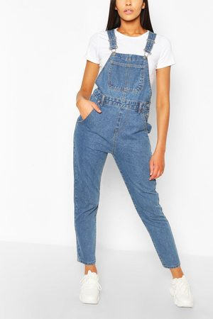 Boohoo Womens Denim Boyfriend Dungaree - - 2