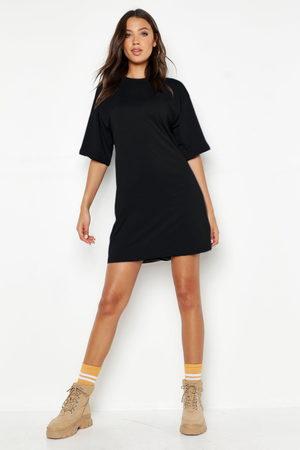 Boohoo Womens Tall Cotton Oversized T Shirt Dress - - 2