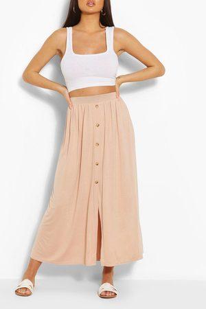 Boohoo Womens Button Front Midaxi Skirt - - 4