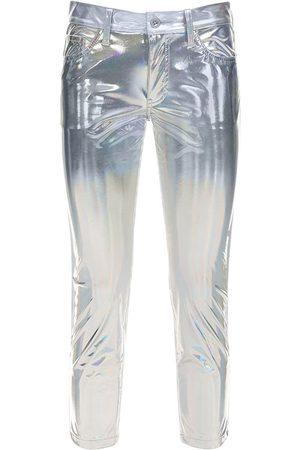 JUNYA WATANABE Women Pants - Metallic Coated Pants
