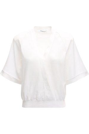 Agnona Cotton Wrap Style Top
