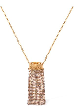 VERSACE Embellished Lighter Case Long Necklace