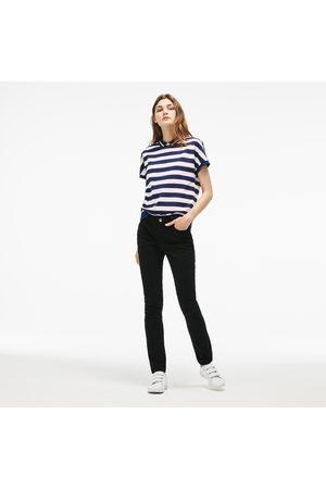 Lacoste Women's Slim Fit Stretch Cotton Denim Jeans :