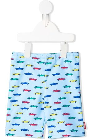 Familiar Car-print swim shorts