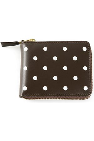 Comme des Garçons Wallets - Polka Dots Printed' zip around wallet