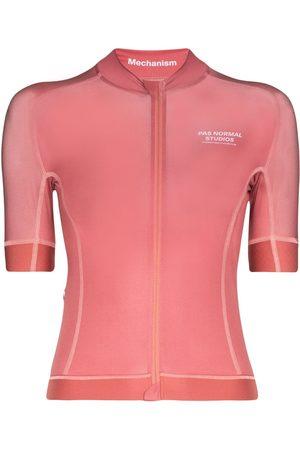 Pas Normal Studios Women Hoodies - Mechanism jersey zip-up T-shirt