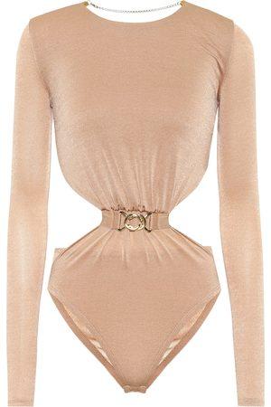 DODO BAR OR Cut-out stretch-crêpe bodysuit