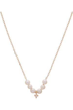 Mizuki Diamond, Akoya Pearl & 14kt Gold Necklace - Womens - Pearl