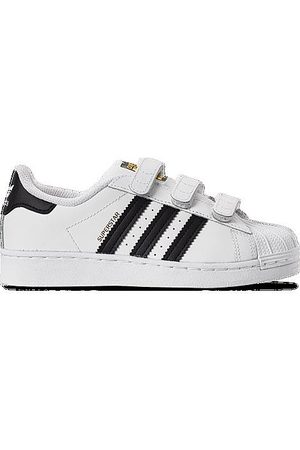 adidas Boys' Little Kids' Originals Superstar Hook-and-Loop Casual Shoes in /
