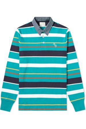 Aimé Leon Dore Men Polo Shirts - Long Sleeve Pique Stripe Polo
