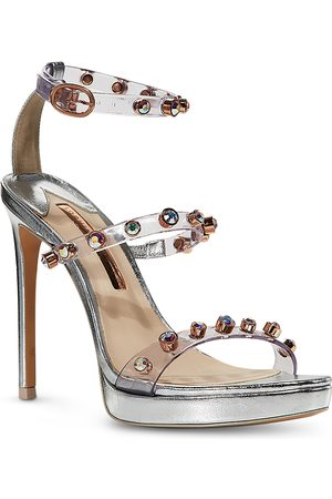 SOPHIA WEBSTER Women's Rosalind Cubic Zirconia & Synthetic Pearl High Heel Platform Sandals